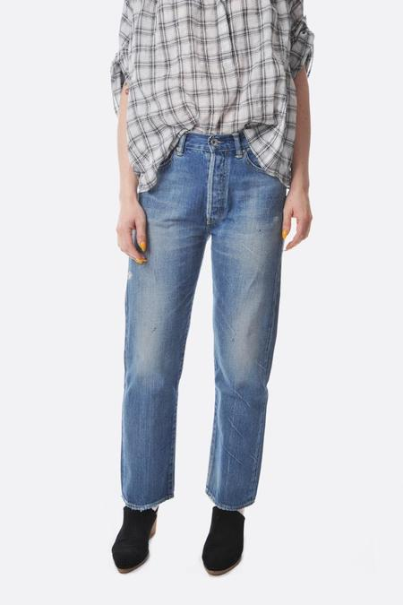 Chimala Used Light Selvedge straight cut jeans