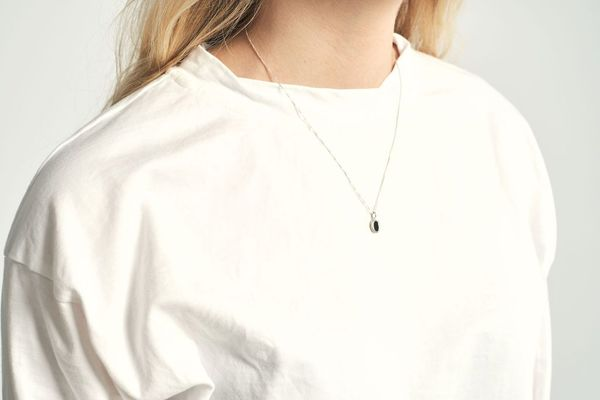 Another Feather Noir Small Platter Necklace
