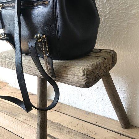 vintage Coach Leather Backpack - black