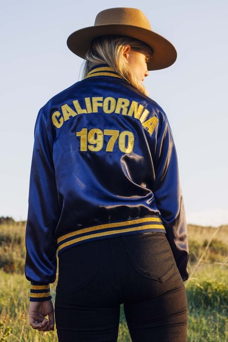 Stoned Immaculate California 1970 Bomber - Navy/Gold