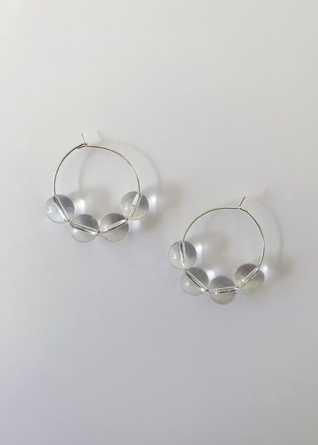 Sea + Pattern Quartz Hoop Earrings