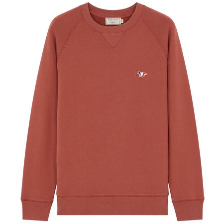 Maison Kitsuné sweatshirt tricolor fox patch Dark Pink
