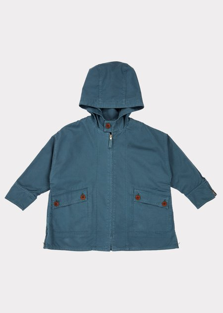 KIDS Caramel Brompton Raincoat - Coronet Blue