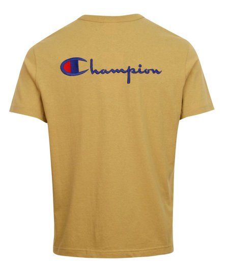 Champion Back Script Crewneck T Shirt - Sand