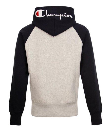 Champion Hoodie Script Bi Colour - Grey