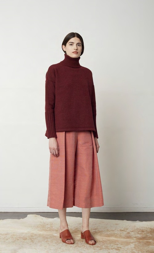 Where Mountains Meet Wool/Silk Basecloth Colette Culotte Pants