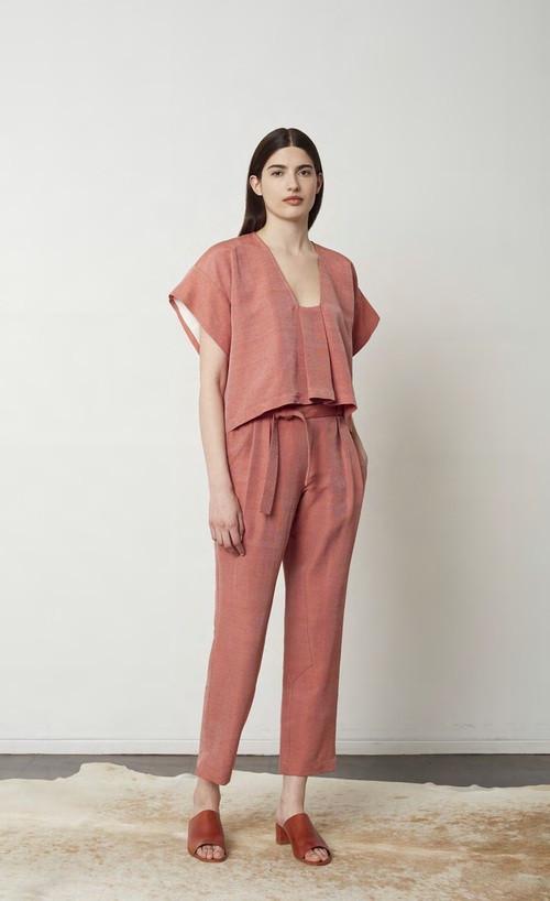 Where Mountains Meet Wool/Silk Handllomed Basecloth Holly Top