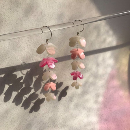lucite earrings BLUSH LILAC EARRINGS