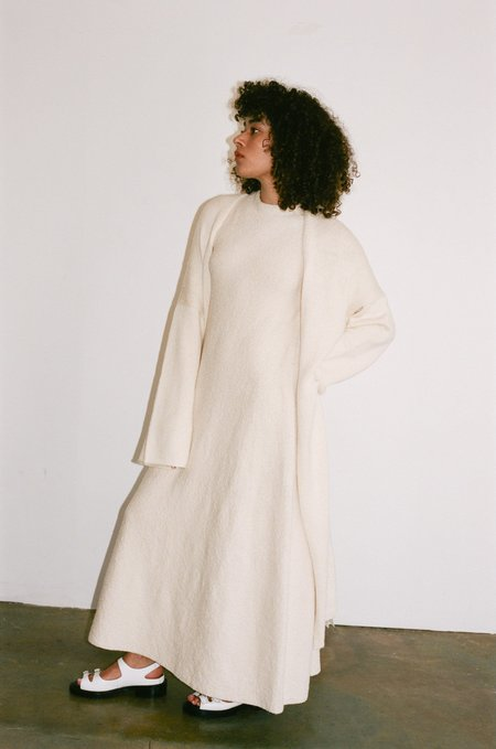 Lauren Manoogian Long Open Cardigan - Raw White