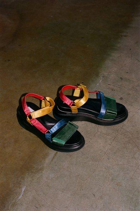 Suzanne Rae Velcro Sandal - Multi