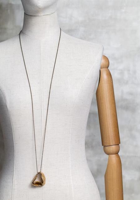 Miriam Nori Large Folded Loop Pendant Necklace