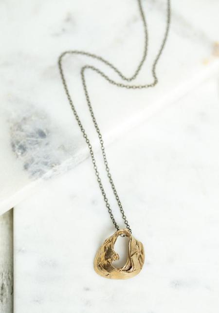 Miriam Nori Small Folded Loop Pendant Necklace