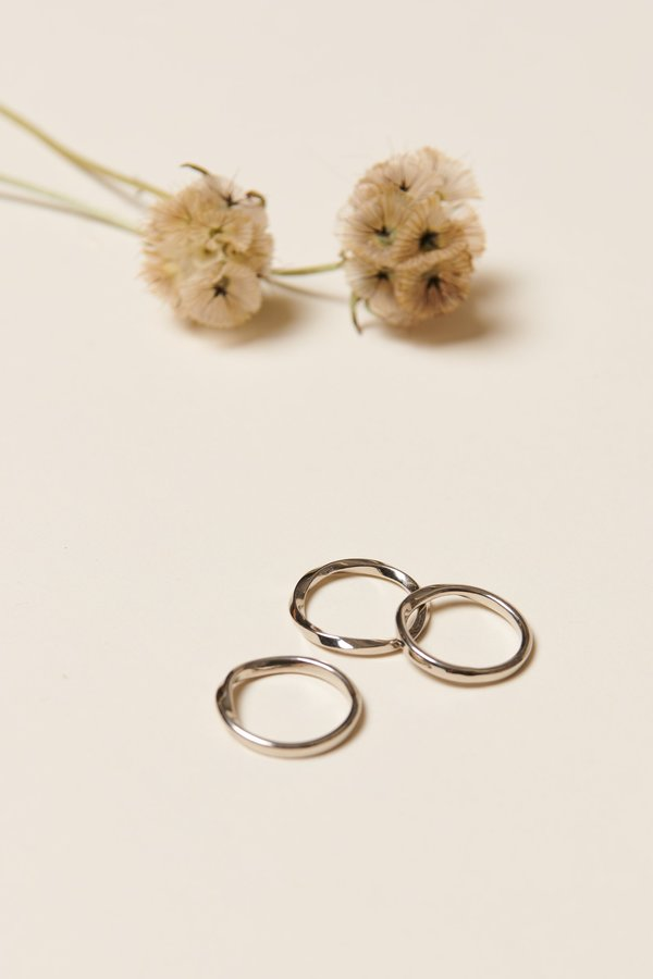 Soko Twist Stacked Rings - Silver
