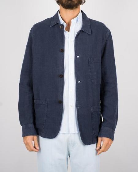 Portuguese Flannel The Labura Linen Jacket - Navy