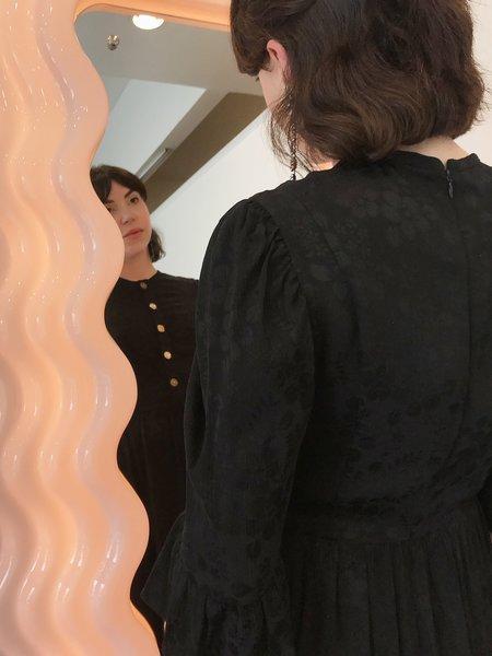 BATSHEVA Long Prairie Dress - Black