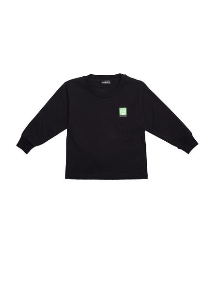 Kids Balenciaga Cotton Monogram Longsleeve - Black