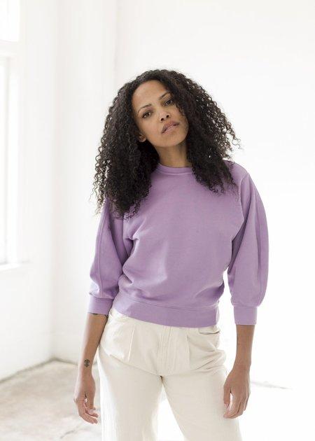 AGOLDE Thora 3/4 Sleeve Sweatshirt - Lunar