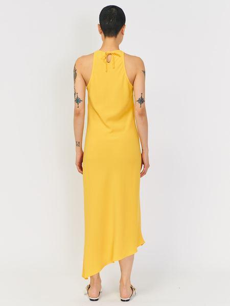 Nomia Cady Racerback Bias Dress - Yellow