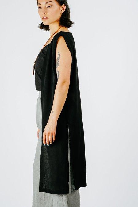 Altar Houseline Crinkle Vest - black