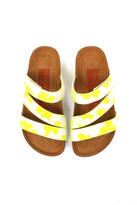 Magnafied Torun Velcro Sandals - Neon Yellow