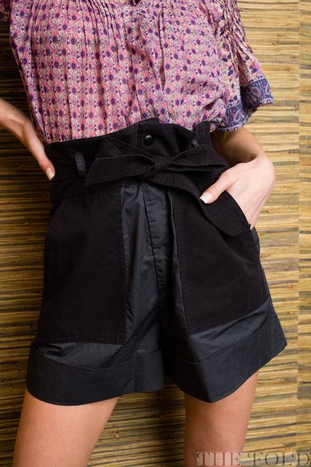 Sea NY SEA Gabriette Combo Shorts - Charcoal