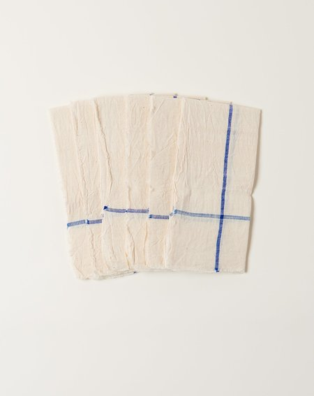 Auntie Oti Natural Napkin Set - Blue