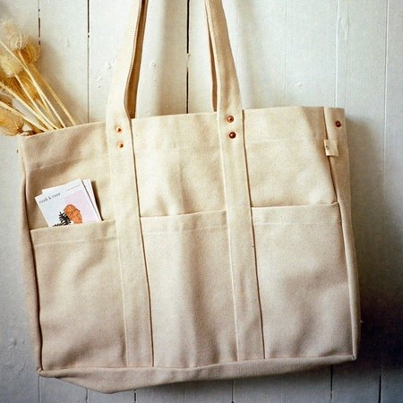 Floral Society Canvas Utility Tote Bag