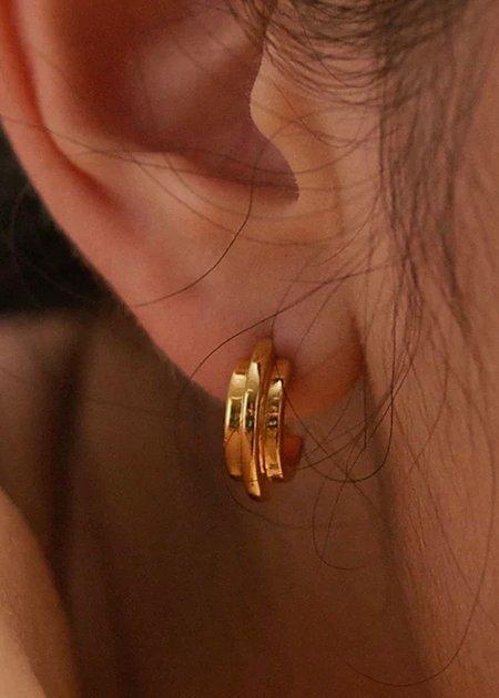 Chalk Jewellery Double Arc Earrings