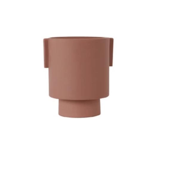 OYOY Inka Kana Pot - sienna rose