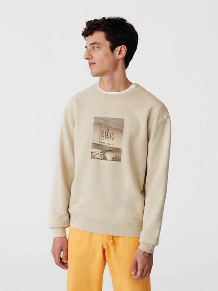 unisex Paloma Wool Hostal Chinatown Sweatshirt - light beige