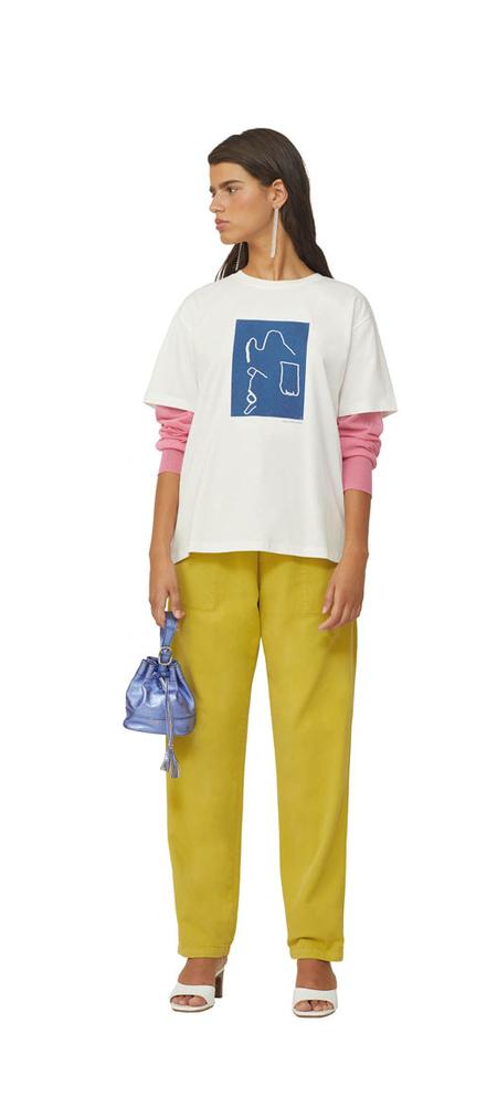 unisex Paloma Wool Recuerdo Xavi Tshirt - white