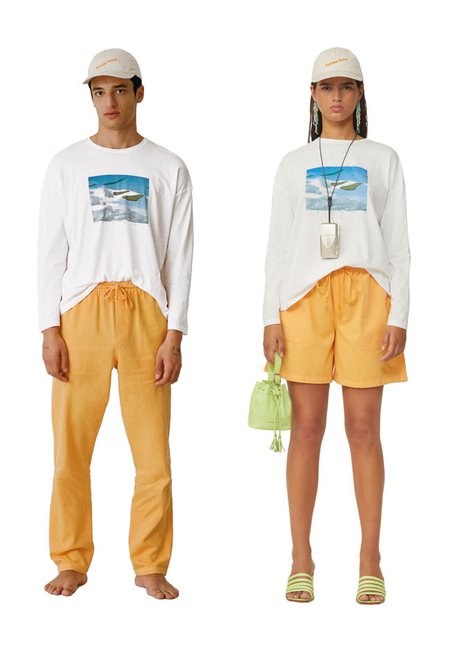 unisex Paloma Wool Souvenir Isole Tshirt - white