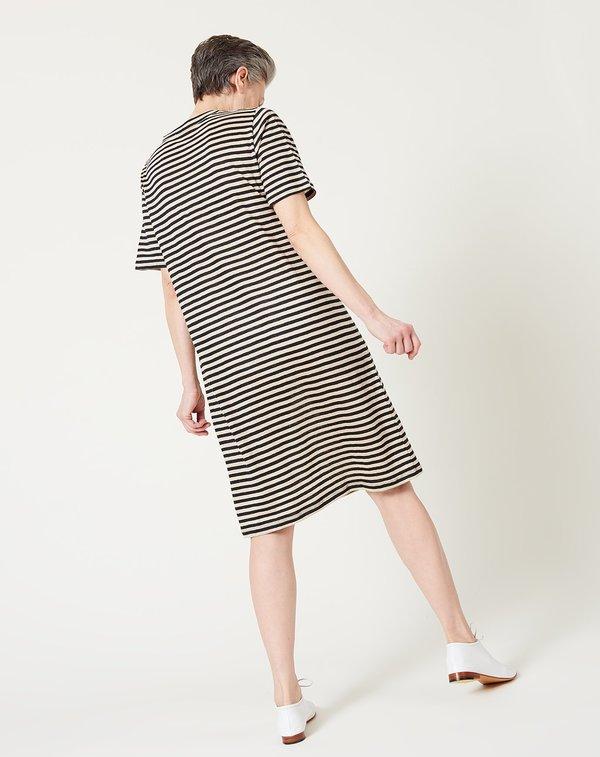 6397 Linen Tee Dress - Black/Natural