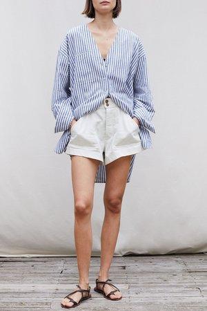 Apiece Apart Oversized Buttondown - Stripe
