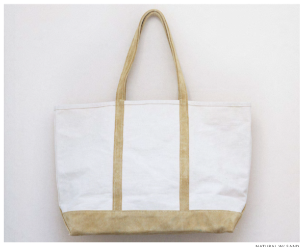 Stanley & Sons canvas and suede tote - Natural