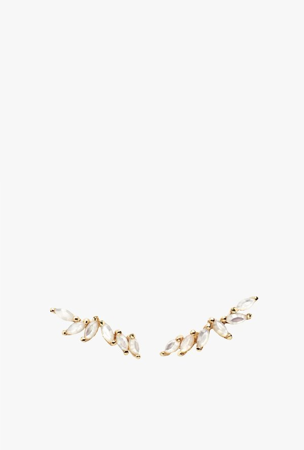 Laurie Fleming Lyrie Earrings - 14k Yellow Gold