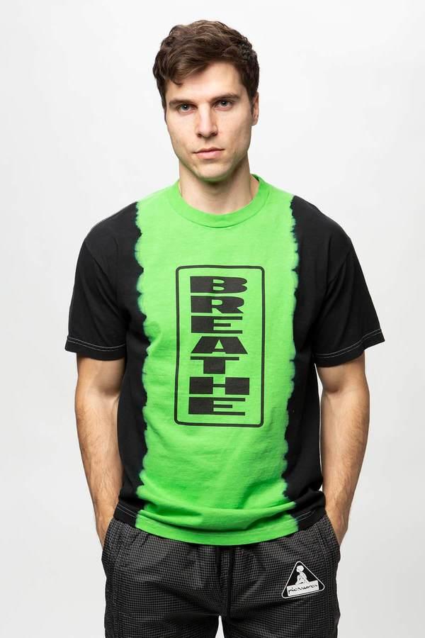 PLEASURES Breathe Split Dye T-Shirt - Black/Green