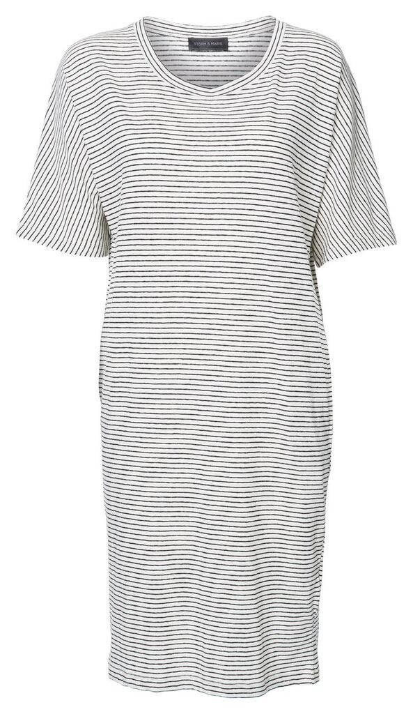 "Storm + Marie Storm and Marie ""Ritz"" 3/4 Sleeve Striped Jersey Dress"