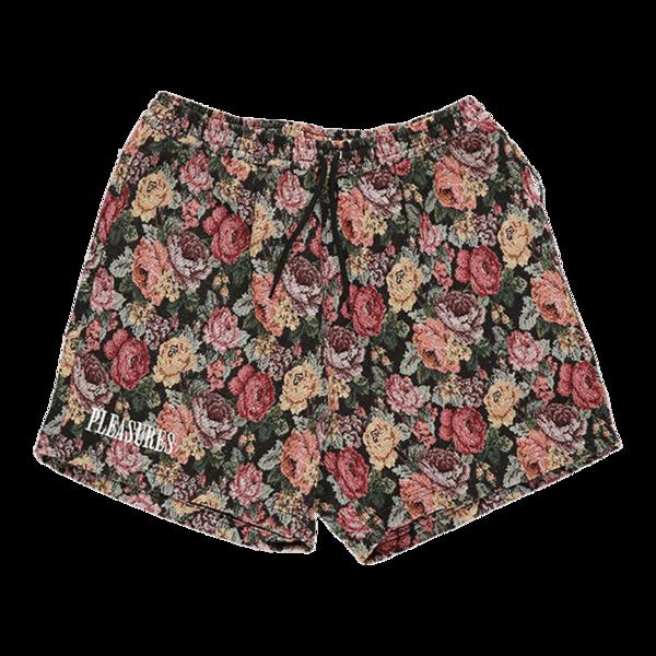 PLEASURES Floral Woven Shorts - Black