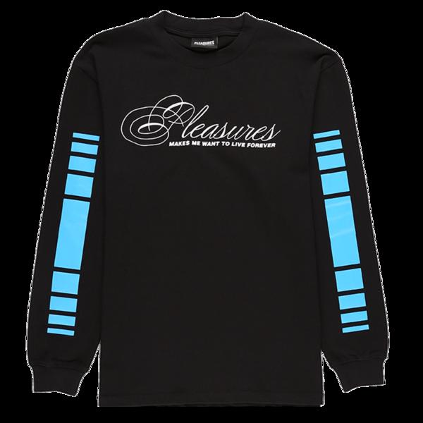 PLEASURES Live Forever Premium Long Sleeve T-Shirt - Black