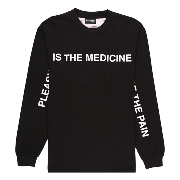 PLEASURES Medicine Premium Long Sleeve T-Shirt - Black
