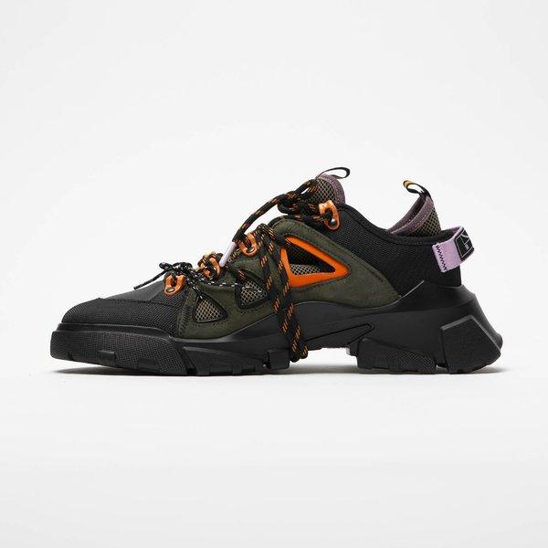 Alexander McQueen Orbyt Mid - Black/Khaki/Orange