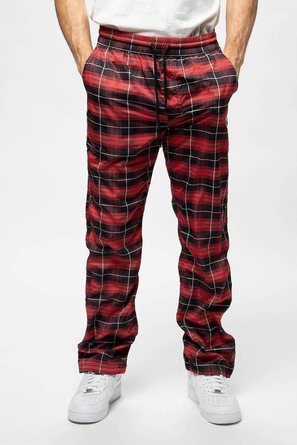 PLEASURES Wonder Track Pant - Black/Red