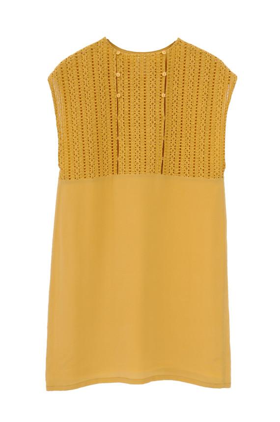 The Korner Sleeveless Mini Dress with Back Crochet Detail