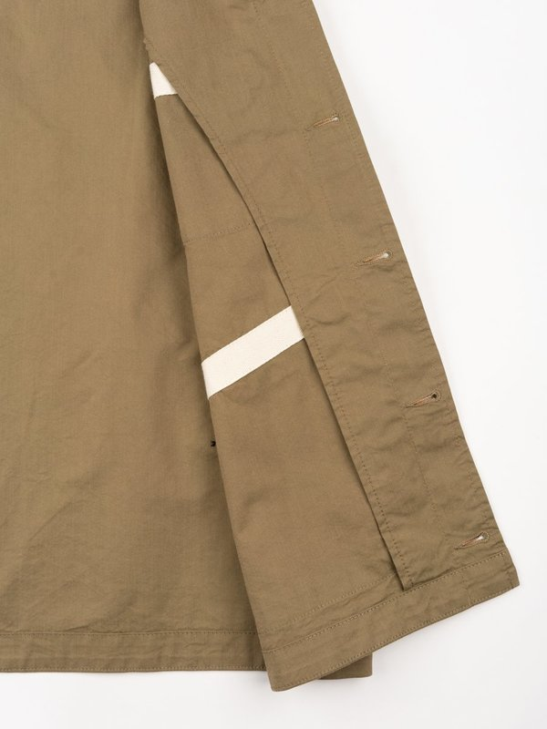 Universal Works Brixton Waistcoat Cotton Nylon Suiting - Khaki
