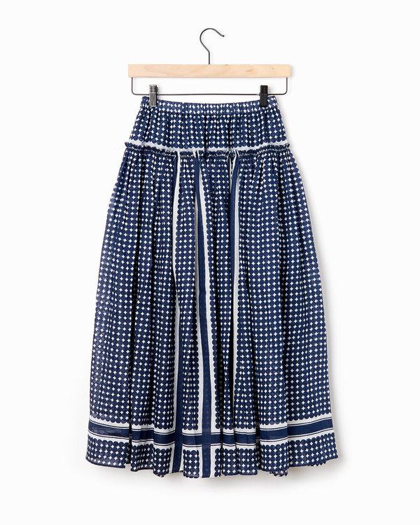 Sara Lanzi Gathered Skirt - Navy
