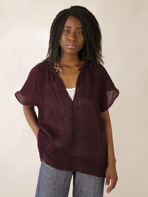 Erica Tanov patti blouse - beet