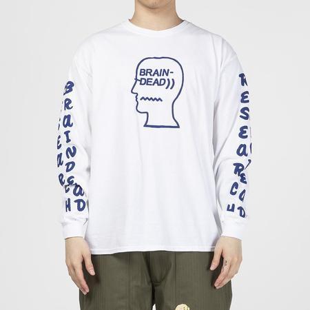 Brain Dead Vehicle Long Sleeve T-shirt - White