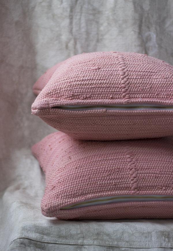 Cuttalossa & Co. Cotton Woven Pillow - Peony