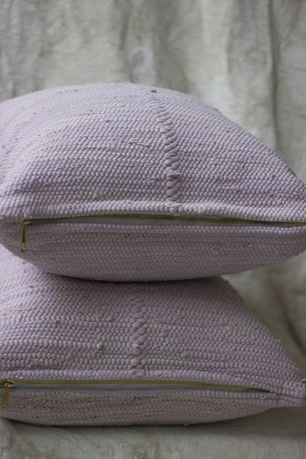 Cuttalossa & Co. Cotton Woven Pillow - Lilac